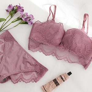 no wire/ lace bralette b101 purple